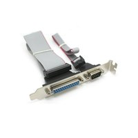 Wholesale Rs Cable - DB25 25Pin Parallel Port Printer LPT + RS-232 RS232 COM DB9 9Pin Serial Port Cable Cord Wire Bracket