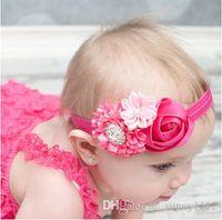 Discount princess rose hair - headband baby princess rose Artificial diamonds Infant Toddler Baby Kids Girls Flowers Dance Party Birthday Christmas Hair Headbands