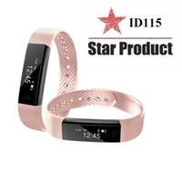 Wholesale Male Vibrating - For ID115 Smart Band Vibrating Alarm Clock Smartband Sport Wristband Fitness Activity Tracker Sleep Monitor Bracelet