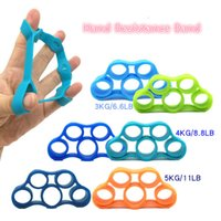 Wholesale Hand Wrist Exercises - Hand Gripper Grip Forearm Wrist Training Finger Stretcher Hand Resistance Band Fitness Exercise Pull Ring Grips Expander