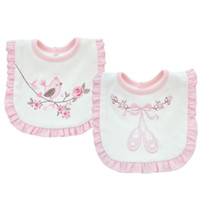 Wholesale Feeding Tops - Baby Bib Lace towel double cotton embroidered Bib slobber Burp Cloths Chinese Style Baby Feeding Bibs Top quality