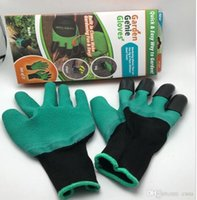 Wholesale Latex Work Gloves Wholesale - 2017 Rubber+Polyester Builders Garden Work Genie Latex Gloves with 4 Claws Quick & easy way to Garden Digging & Planting