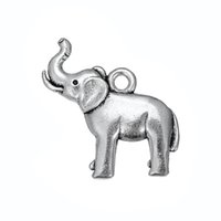 Wholesale Elephant Animal Bracelet - elephant Animal adorable Accessory Charm Antique Silver Plated Charm DIY Necklace&Bracelet Jewelry Special style hot sell
