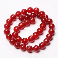 Wholesale Red Carnelian Beads - Red Agates Beads Round Carnelian Selectable 4 6 8 10 12mm Natural Stone Beads For Jewelry Making Diy Bracelet Necklace Material