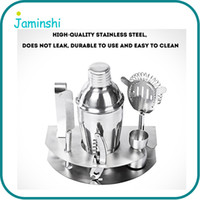 Wholesale Bar Sets Cocktail Shaker - 7pcs Set 500ml Home Kitchen Bar Cocktail Maker Stainless Steel Shaker Jigger Ice Strainer Clip Wine Tool