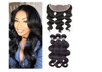 Wholesale Wholesale Real Peruvian Virgin Hair - Liang Shuang 9aPeruvian Virgin Human Hair 4Bundles With (13x4)Lace Frontal body Wave weft 100% Real Human Hair Extension