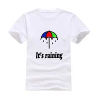 Wholesale Umbrella Sleeves - Rain umbrella 2017 New Clothes Fashion Man Casual T-Shirt Cotton O Neck Short Sleeve Loose Personalized unique Male Tops Tees Wholesale