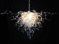 mejores arañas de cristal al por mayor-Alto techo Big Best Murano Chandelier Fashion Crystal Ceiling 110v-240v Led Bombillas Moderno salón comedor