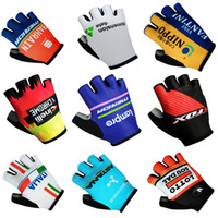 Wholesale Green Racing Gloves - 2017 New BAHRAIN DATA FANTINI INELLI FOX ITALIA ASTANA LOTTO Cycling Gloves racing MTB TEAM gloves Bike bicycles gloves with Gel pads