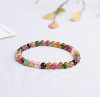 Wholesale Bracelet Tourmaline Beads Natural - Authentic Tourmaline 5mm Bracelets Beads Natural Stone Gemstone Fashion Crystal Jewelry Accessory Party Gifts Wholesale Beauty