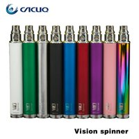 100% Original Vision Spinner cigarette électronique ego c torsion 3.3-4.8V Variable tension VV batterie 650mAh 900mAh 1100mAh 1300mAh batterie