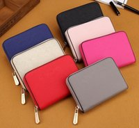 Sachets En Couleur Unie Pas Cher-2017 Portefeuille de femmes élégantes Mode Lady Portable Multifonction Short Sac de changement de couleur solide Hot Female Clutch Carteras