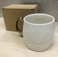 Wholesale Luxury Ceramic Gifts - Fashion Luxury Logo black and white fashion pattern brand logo mug with handgrip Caramic cup collection coffee cup VIP gift