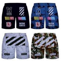 Wholesale Mesh Sport Short Pants - Off White Shorts Mens 3D Stripe C O VIRGIL ABLOH Hip Hop Casual Summer Mesh Sport Pants M-2XL