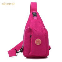 Wholesale Wholesale Nylon Messenger Bag - Wholesale-Men Women Waterproof Chest Pouch Bag Nylon Women Chest Packs Fashion Messenger Bag Nylon Shoulder Sling Bag Bolsa