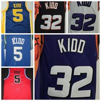 sport jason - Men Jason Kidd Sports Throwback Basketball Jerseys Purple Black White Mens College LSU Tigers Jason Kidd Navy Blue jerseys