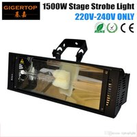Wholesale Night Lights Discount - Discount Price 10 Pack 220V 1500W Club Disco Night Party DJ KTV White Color Long Bar Projector Stage Effect Strobe Light TP-S1500