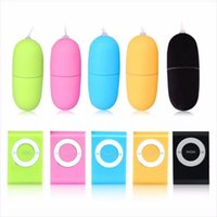 Wholesale Vibrator Mp3 Wireless Remote Bullet - Waterproof Portable Wireless MP3 Vibrators Remote Control Women Vibrating Egg Body Massager Sex Toys Adult Products
