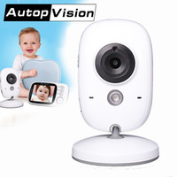 Wholesale Video Color Temperature - VB603 Baby Monitor VB603 3.2 inch LCD IR Night Vision 2 way Talk 8 Lullabies Temperature monitor Digital video nanny radio babys AT