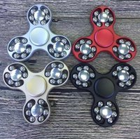 Wholesale Sports Action Figure - Superior Fidget Spinner Hand Spinners EDC Fidget Spinner Action Figure ADHD Focus Anxiety Relief Toys by Aluminum Decompression Steel ball
