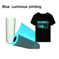 Wholesale Wholesale Adult T Shirts - Free Fluo Blue Green Luminous Vinly Heat Printing Your LOGO Uniex T Shirts Adult Top Tee Summer Clothes