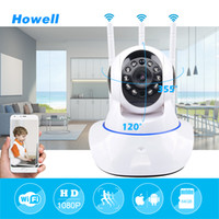 Howell Mini CCTV WiFi Camera IP 1080P Câmera de segurança doméstica Wi-Fi P2P Two Way Audio Night Vision 3 Antenas Wireless Baby Monitor IPcamera