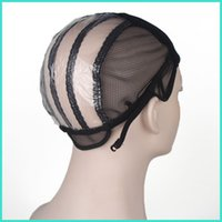 Wholesale Lace Weave Caps - Wig caps for making wigs stretch lace weaving cap adjustable straps back human extensions wig tools ZA2334