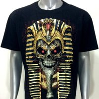 D3 Rock Chang 3D T-shirt Tattoo STUD Glow In Dark Schädel Pharao Kopf Ägypten Cobra Männer Kurzarm T-shirt Tops Coole T-shirt