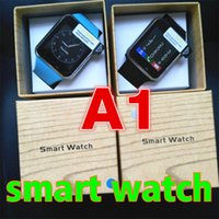 Wholesale Wholesale Korean Packaging - A1 Smart Watches Bluetooth Touch Screen Smartwatch Support SIM TF Card Smart Watch A1 for Smartphone With 8 Colors and Retail Package