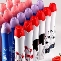 vasos de guarda-chuva venda por atacado-Perfume Rose Flor Vaso Guarda-chuva Arte Praia Garrafa De Vinho Guarda-chuvas Japoneses Rosa para atacado Criativo Ensolarado Chuva Fábrica 9ms