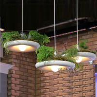Wholesale White Led Flower Pots - EMS SPSR... Babylon Potted Plant Pendant Light Lamp Shade Modern Light Flower Pots for Growing Herbs or Succulents