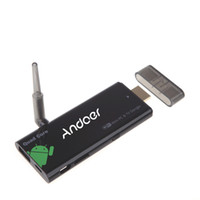 dongle bluetooth hdmi tv großhandel-TV Stick CX919 Android 4.2 Mini-PC-Kasten-Viererkabel-Kern 2G / 8GB Fernsehstock-Dongle Bluetooth 1080P mit externer WiFi-Antenne EU-Stecker