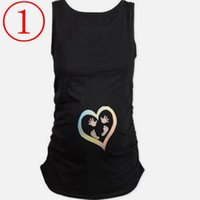 Wholesale summer maternity clothes - New funny summer t shirts for pregnant cotton maternity t shirts short sleeve summer tops peek a boo maternity clothes with footprints Mater