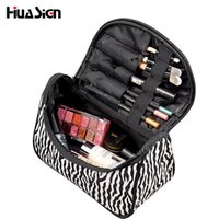 Wholesale Wholesale Zebra Cosmetic Case - Wholesale- Fashion Multifunctional Portable Waterproof Women Makeup Bag Storage Organizer Box Beauty Case Travel Pouch Zebra Cosmetic Bag