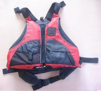 Wholesale Free Shipping Kayaks - Wholesale- Free shipping CE Certified Kayak Life Jackets,Rafting life vest Adult free size red color Buoyancy aids PFD