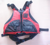 ingrosso giacca kayak-Wholesale- Spedizione gratuita certificato CE Kayak giubbotti di salvataggio, Rafting giubbotto di salvataggio adulto formato libero colore rosso sussidi di galleggiamento PFD