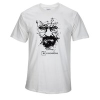 Wholesale T Shirt Bad - Top Quality Cotton heisenberg funny men t shirt casual short sleeve breaking bad print mens T-shirt Fashion cool T shirt for men