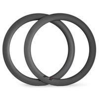 легкие велосипеды карбоновые диски оптовых-Углеродный обод для дорожного велосипеда Clincher 60 мм глубиной 25 мм шириной U-образный дорожный велосипед обод легкого велосипеда