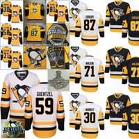 Wholesale Mens Hockey Jerseys - Mens 2017 Pittsburgh Penguins Stanley Cup Champions 59 Jake Guentzel Sidney Crosby Matt Murray Kris Letang Evgeni Malkin Phil Kessel Jerseys