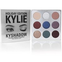 Wholesale stocking groups - In stock New KYLIE Christmas Holiday Palette 3 group 4-color high-glare shine repair powder powder cakeDHL free shipping