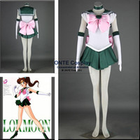 Kleidung Anime Stil Frauen Kaufen -9 styles Customized Anime Sailor Moon. Cosplay Kostüm Sailor Jupiter / Venus / Chibi mond / Pluto Frauen Soldat Kleidung
