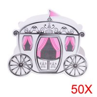 Wholesale Enchanted Favor Boxes - 50pcs Europe Styles Cinderella Enchanted Carriage Marriage Wedding Favor Boxes Gift Candy Box Sale HG99