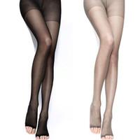 ingrosso ragazza calda pantyhose-All'ingrosso- 2016 Collant caldo traspirante Collant calze alte per le donne sexy Lady Girls 4 colori Open Toes Tight