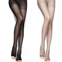 Wholesale sexy tights for girls - Wholesale- 2016 Hot Breathability Tights Pantyhose High Stockings for Sexy Women Lady Girls 4 Colors Open Toes Tight