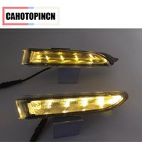 Wholesale Scirocco Turn Light - For Volkswagen VW Scirocco 2010 2011 2012 2013 2014 2015 quality Day LED DRL Daytime Running Light Daylight With Turning Signal