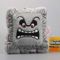 "Wholesale Super Mario 23cm - 9"" 23cm Super Mario Bros Thwomp Dossun Character Pillow Plush Toy Cushion Doll Gift"