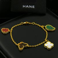 Wholesale Bracelet 4pcs - Top brass bracelet with flower in 4pcs nature stone in 17+1cm length with heart pear butterfly colver flower for women and man wedding gift