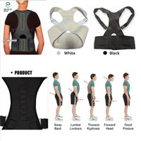 Neoprene, adjustable elastic, leather orthopedic products - Magnetic Back Support Shoulder Posture Corrector Men Medical Massage Belts Orthopedic Products Health Care B002