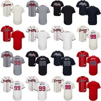 Wholesale Mens Butt - Mens Womens Kids 2017 Atlanta Braves Blank 99 Alan Butts Cool Flex Base Collection MLB Jerseys Stitched Cream White Red Grey Navy Blue