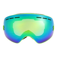 Wholesale UV Protection Men Women Outdoor Sport Windproof Glasses Professional Skiing Snowboard Anti fog Goggles Y1828B